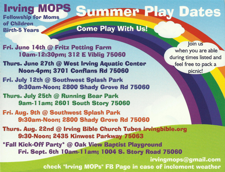 mops summer playdates