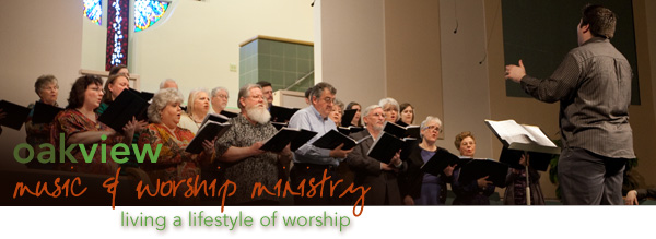 music and worship choir header